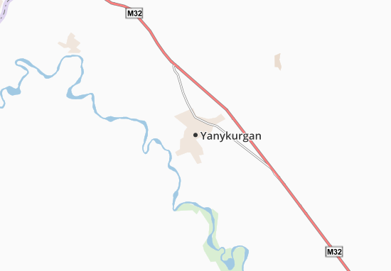 Kaart Plattegrond Yanykurgan