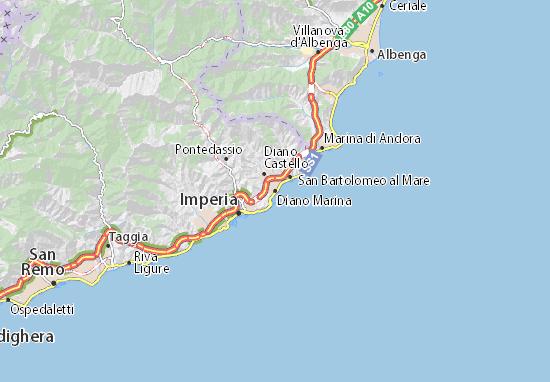 Karte Stadtplan Diano Marina