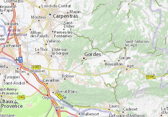 Carte-Plan Gordes