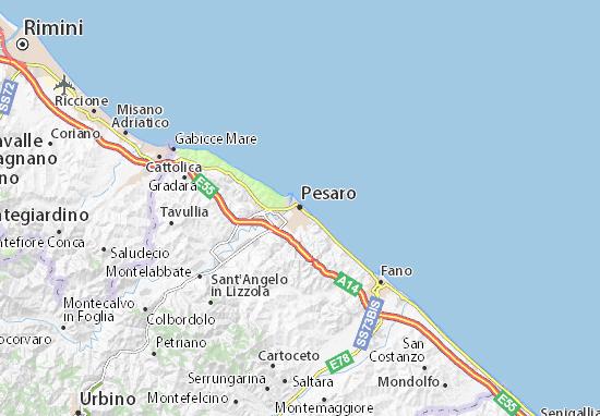 Pesaro Map