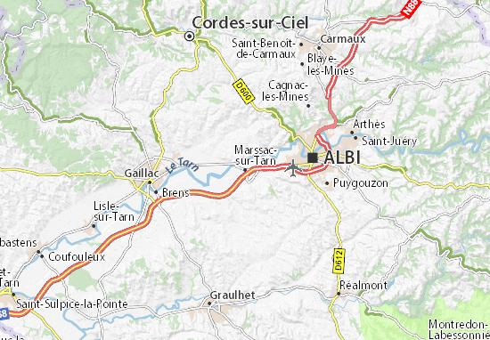 Kaart Plattegrond Marssac-sur-Tarn