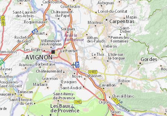 Karte Stadtplan Châteauneuf-de-Gadagne
