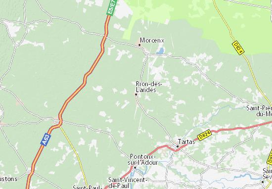 Rion-des-Landes Map