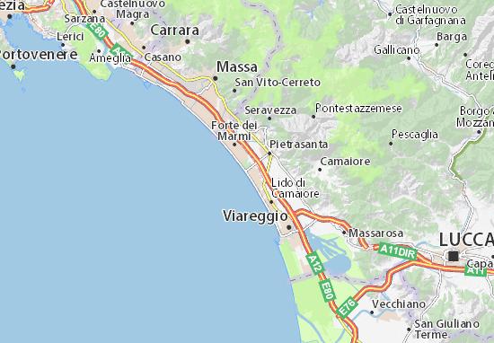 Cartina Dettagliata Roma.Mappa Michelin Marina Di Pietrasanta Pinatina Di Marina Di Pietrasanta Viamichelin