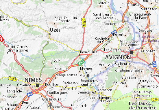 Remoulins Map
