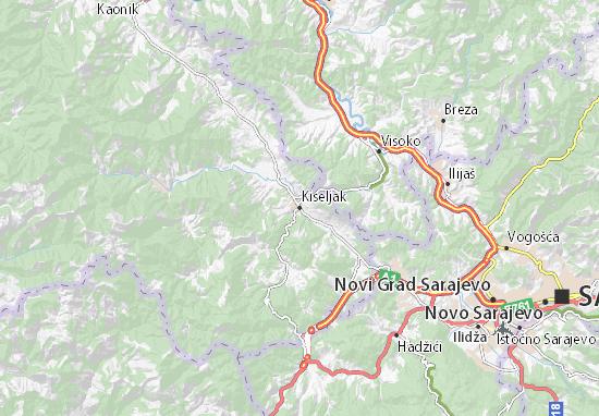 Carte-Plan Kiseljak