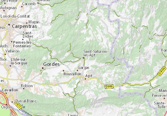 Karte Stadtplan Saint-Saturnin-lès-Apt