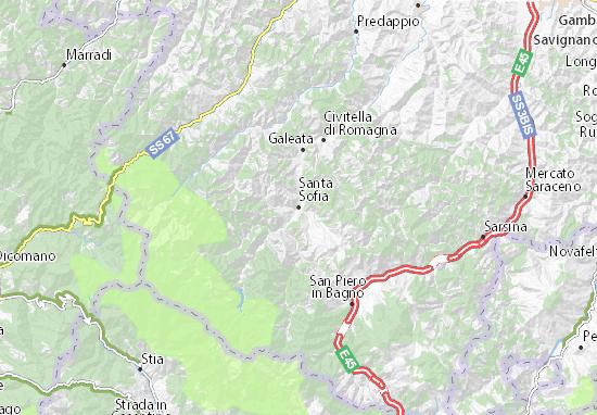 Santa Sofia Map