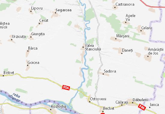 Mapa Plano Horezu Poenari