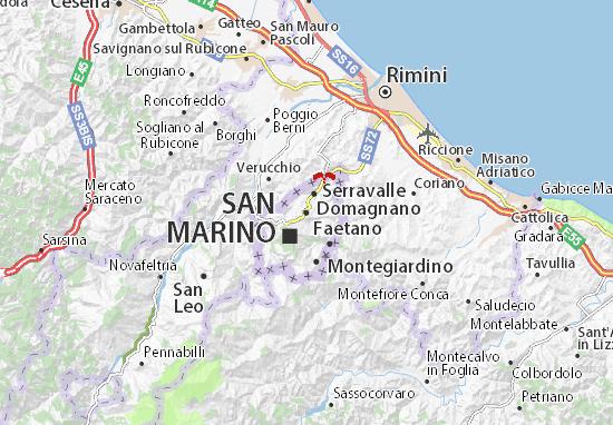 Mapa Plano Domagnano
