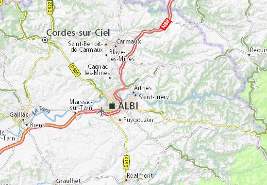 Arthès Map