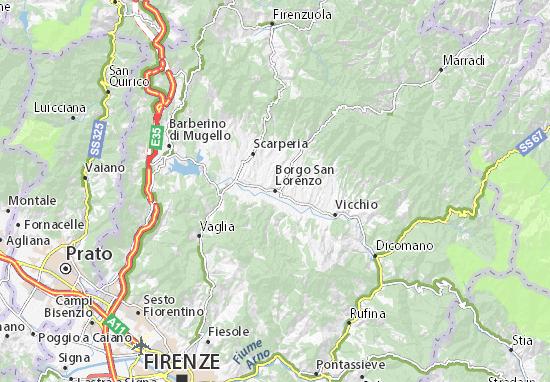 Carte-Plan Borgo San Lorenzo