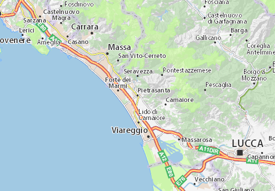 Mapas-Planos Pietrasanta