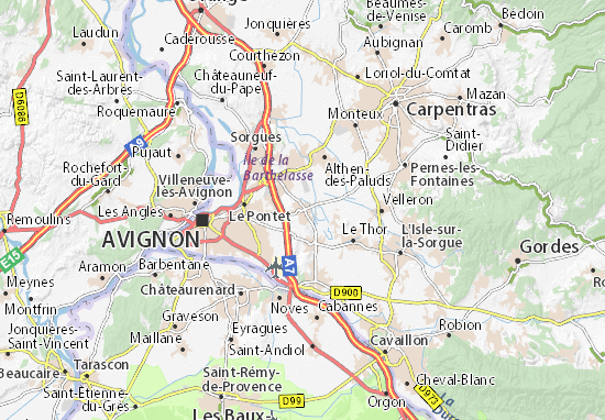 Carte-Plan Saint-Saturnin-lès-Avignon