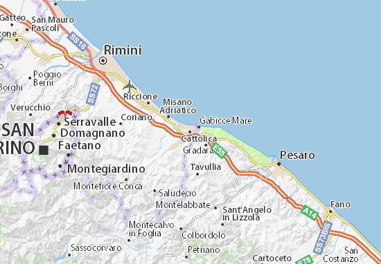 Cattolica Map