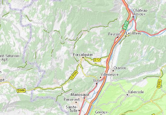 Karte Stadtplan Forcalquier