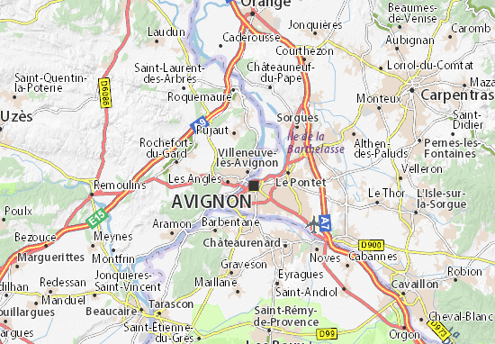 Villeneuve-lès-Avignon Map