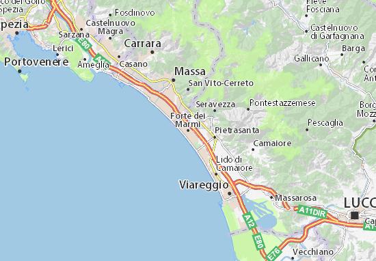Forte dei Marmi Map