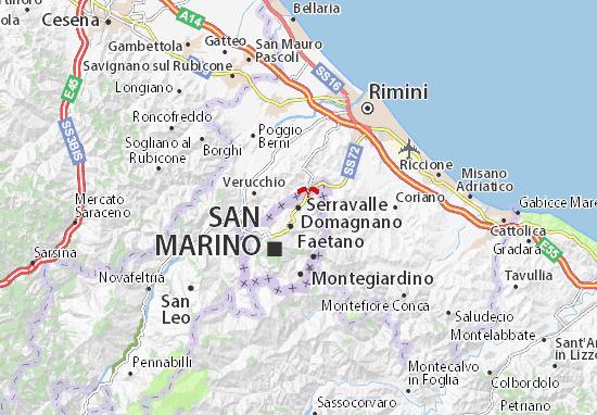 Mapa Plano Serravalle