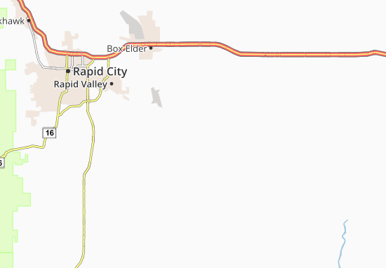 Map of Rapid City East - Michelin Rapid City East map - ViaMichelin