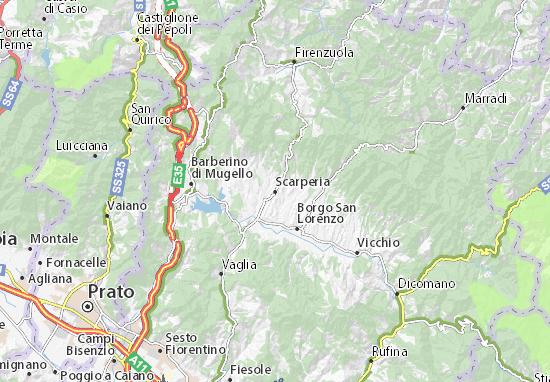 Scarperia Map