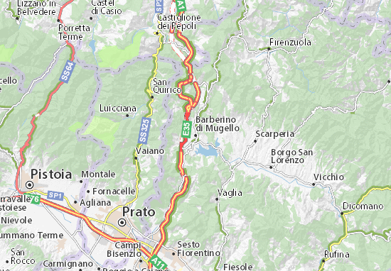 Barberino di Mugello Map