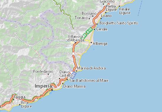 Mapas-Planos Alassio