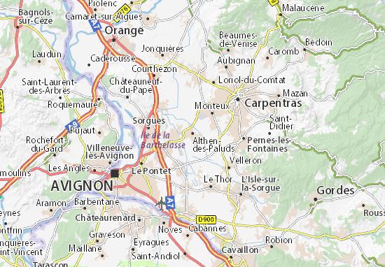 Althen-des-Paluds Map