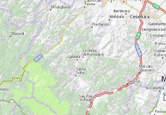 Mapas-Planos Civitella di Romagna