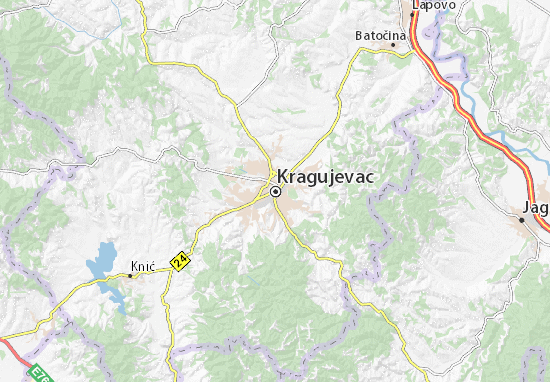 lapovo mapa Mapa Kragujevac   plano Kragujevac   ViaMichelin lapovo mapa
