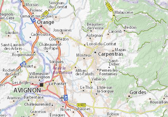 Mapa Plano Monteux