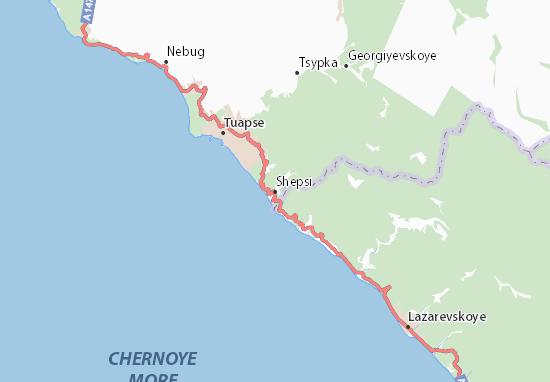 Kaart Plattegrond Shepsi