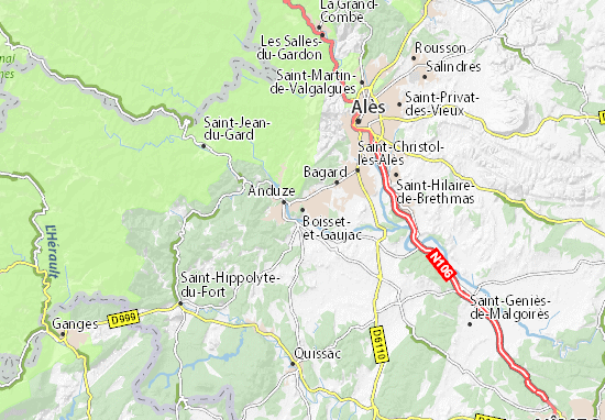 Boisset-et-Gaujac Map