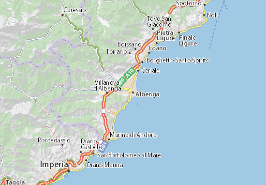 Karte Stadtplan Albenga