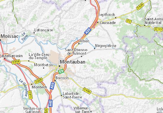 Carte-Plan Saint-Étienne-de-Tulmont