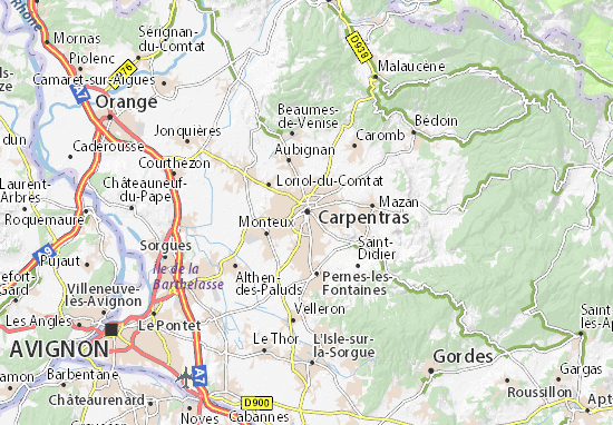 Carpentras Map