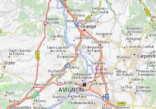 Karte Stadtplan Roquemaure