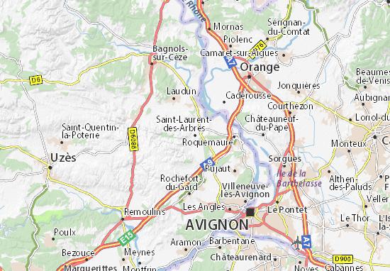 Carte-Plan Saint-Laurent-des-Arbres