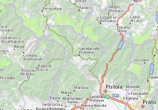 San Marcello Pistoiese Map