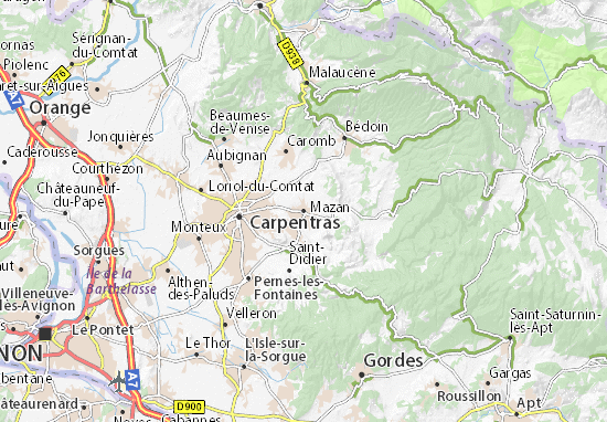 Carpentras France Map.Mazan Map Detailed Maps For The City Of Mazan Viamichelin