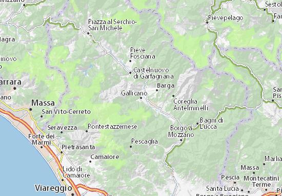 Gallicano Map