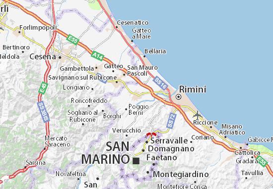 Mapa Plano Santarcangelo di Romagna