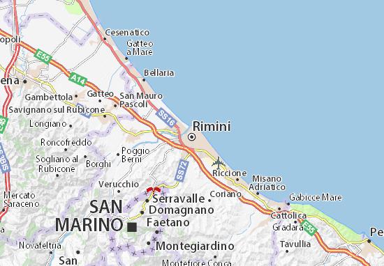 Karte Stadtplan Rimini