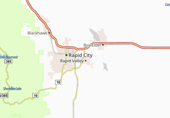 Rapid Valley Map