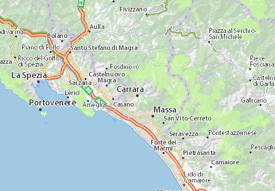 Mappe-Piantine Carrara