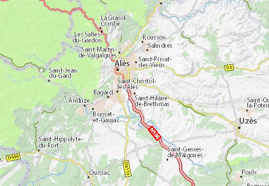 Mapa Plano Saint-Hilaire-de-Brethmas