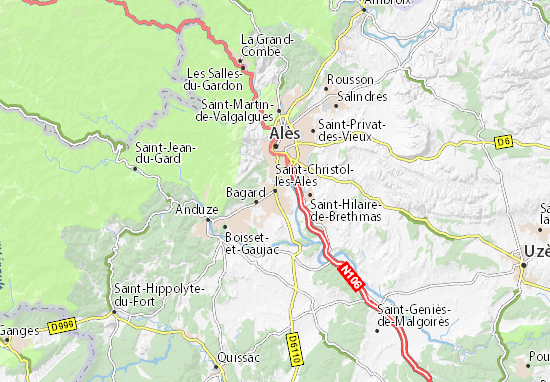 Carte-Plan Saint-Christol-lès-Alès