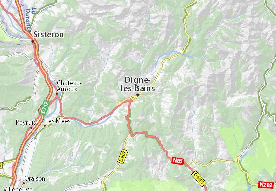 Carte-Plan Digne-les-Bains