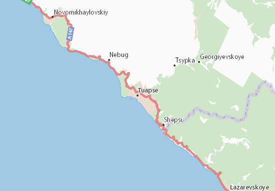 Kaart Plattegrond Tuapse