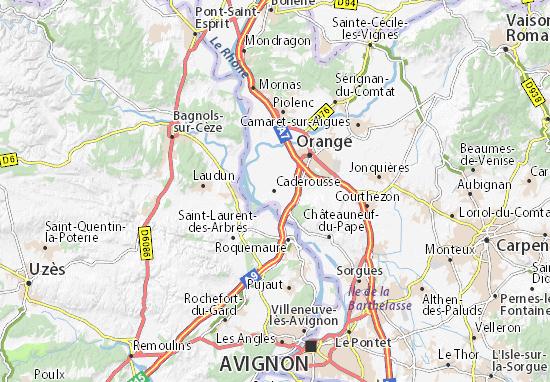 Kaart Plattegrond Caderousse